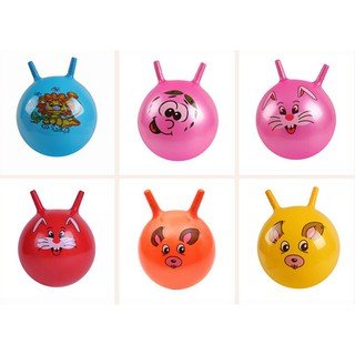 Fashion Inflatable Bouncing Ball Sport Toy Cartoon Animal Educational Toy Ball f