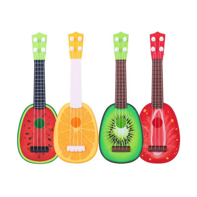 Đồ chơi hình cây đàn ghita có thể phát ra nhạc hình trái cây đáng yêu dùng cho trẻ nhỏ