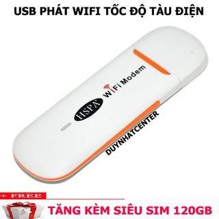 Yêu Thích[SIÊU KHUYẾN MÃI] Bộ Wifi USB 3G - Phát Wifi di động giá rẻ - Phát từ sim 3G/4G tất cả các mạng