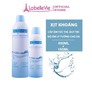 [Mã FMCG8 – 8% đơn 199K] Bộ xịt khoáng dưỡng ẩm cấp nước cho da chính hãng Dollania 400ml + 150ml (9111+9131)