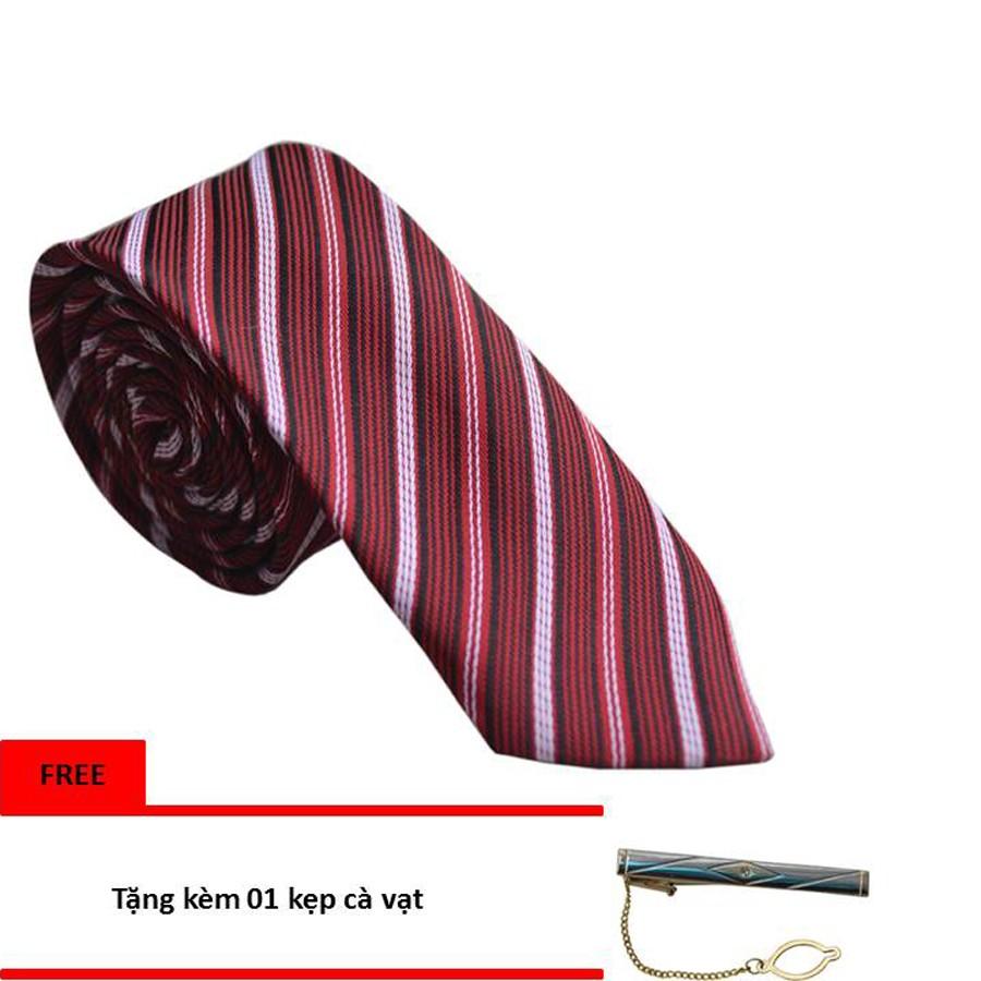 Cà Vạt Nam Thời Trang HI&T 34 (Đỏ)