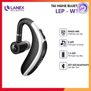 [Mã ELFLASH5 giảm 20K đơn 50K] Tai Nghe Bluetooth 1 Bên LANEX LEP - W16 V5.0 Có Mic - Tương Thích Nhiều Thiết Bị