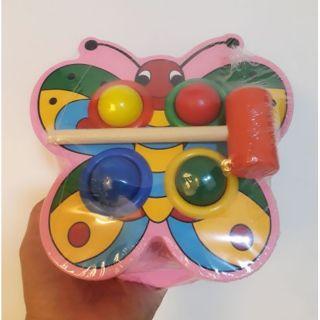 Đồ chơi gỗ đập bóng hình con bướm