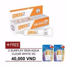Bộ 1 Sản Phẩm Chuyên Biệt Trị Sẹo Scarz 12G + Tặng 2 Sữa Chống Nắng Sunplay Skin Aqua Clear White Sp