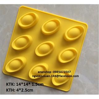 Khuôn silicon 9 nén vàng