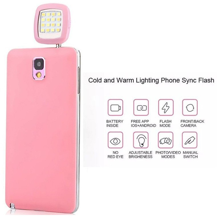 Đèn Flash Led siêu sáng điện thoại [Đơn 50k tặng phần quà thú vị]
