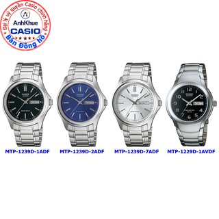 Đồng hồ nam Casio MTP-1239 MTP-1239D 1A 2A 7A MTP-1229D-1AVDF chính hãng Anh Khuê dây thép không gỉ bảo hành 1 năm thumbnail