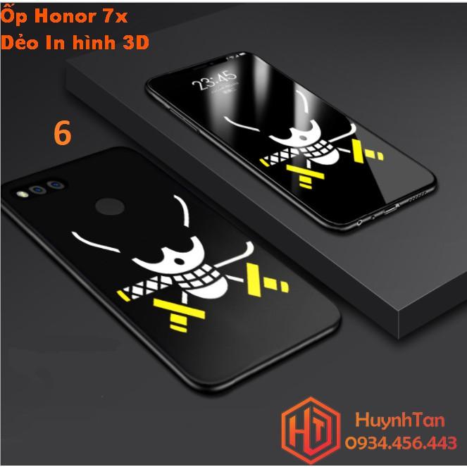 ỐP lưng Huawei Honor 7X dẻo in 3D nổi (BỘ B- Hình 6)