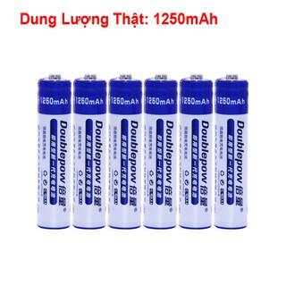 Bộ 6 pin sạc Ni-Mh 1.2V AAA Doublepow 1250mAh Cam Kết Dung Lượng Thật