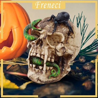 [FRENECI] Modern Resin Skull Sculpture Ornament Death Figurine Statue Halloween Office