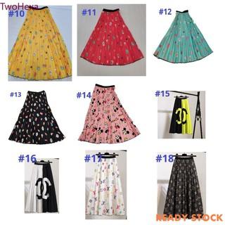 Chân Váy Dài Lưng Cao Xếp Ly Co Giãn Họa Tiết Hoạt Hình Thời Trang 2020 Cho Bé Gái 4-14 Tuổi