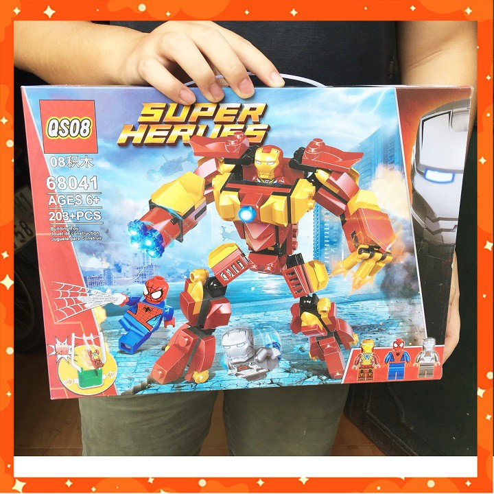 ĐỒ CHƠI LẮP RÁP LEGO ROBOT NGƯỜI SẮT SIÊU KHỦNG