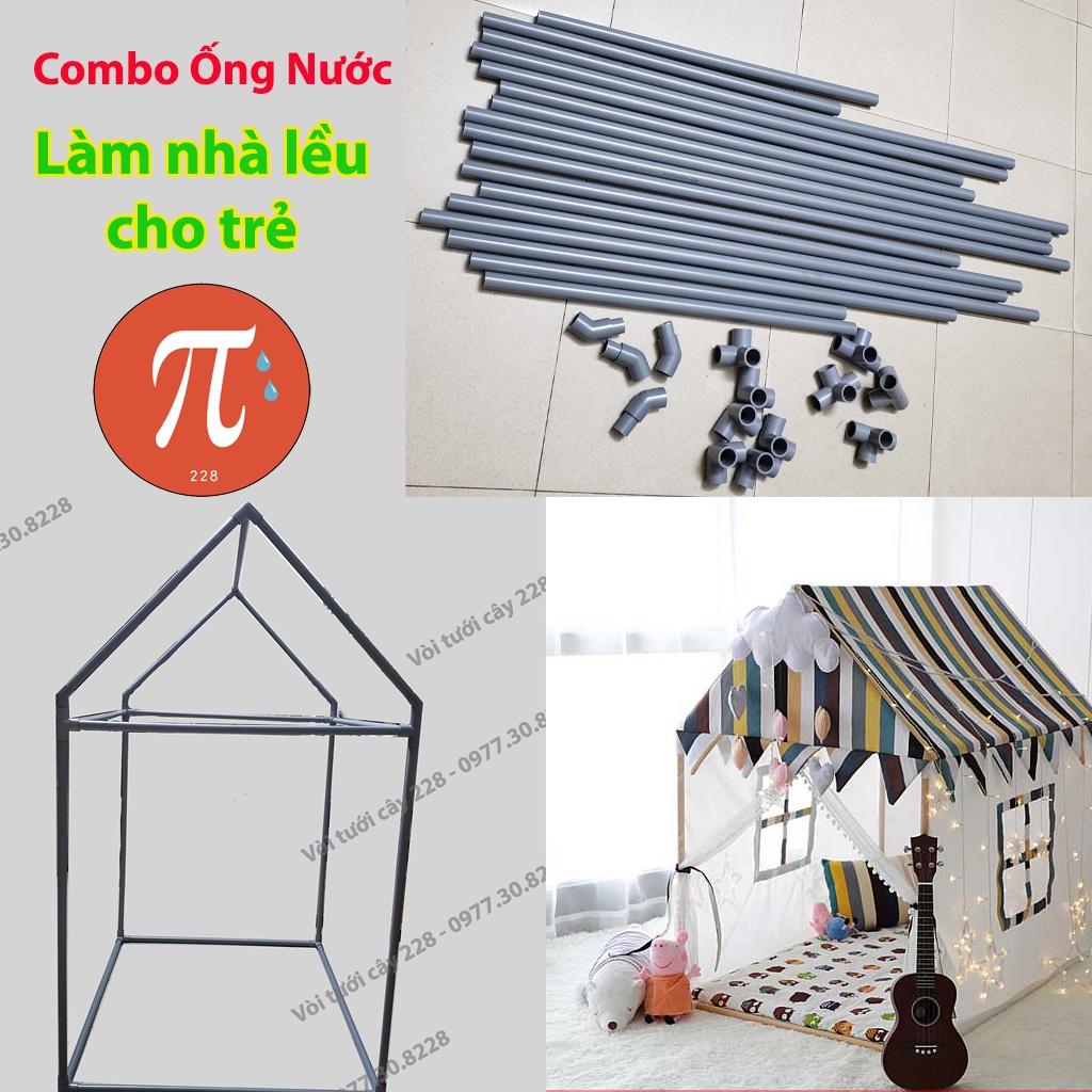 Combo ống nước nhựa làm nhà lều cho trẻ em