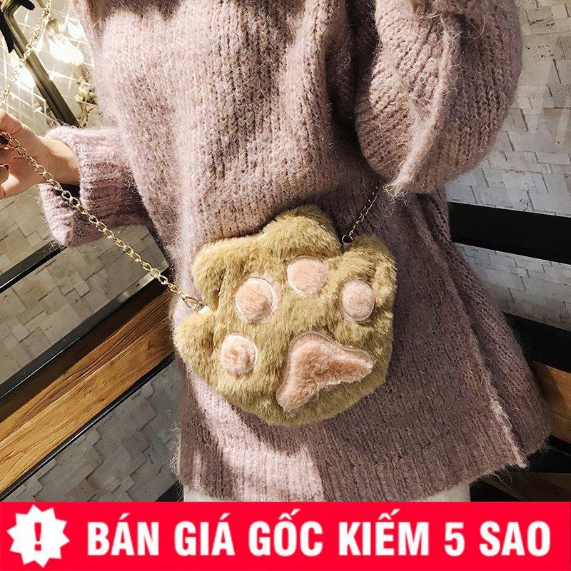 Túi Đeo Chéo Bông Bàn Tay Gấu Đáng Yêu P885