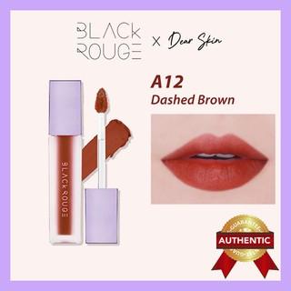 [Chính Hãng] Son Black Rouge A12 Dashed Brown Nâu Đỏ Gạch Trầm - Ver 2 A12 Blackrouge A12 A 12 thumbnail