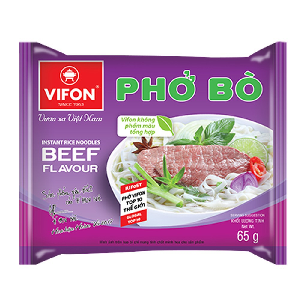 Gói phở Vifon 65G vị bò, gà