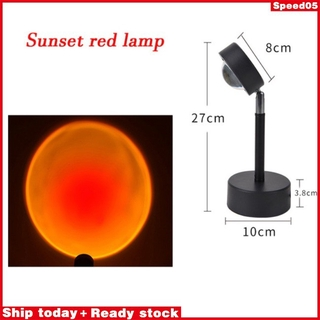 [NEW] Usb Sunset Rainbow Red Projector Led Sun Projection Night Light For Bedroom Bar Coffee Store Wall Decoration Lighting