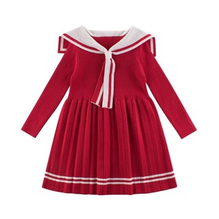Váy len dài tay cho bé gái
