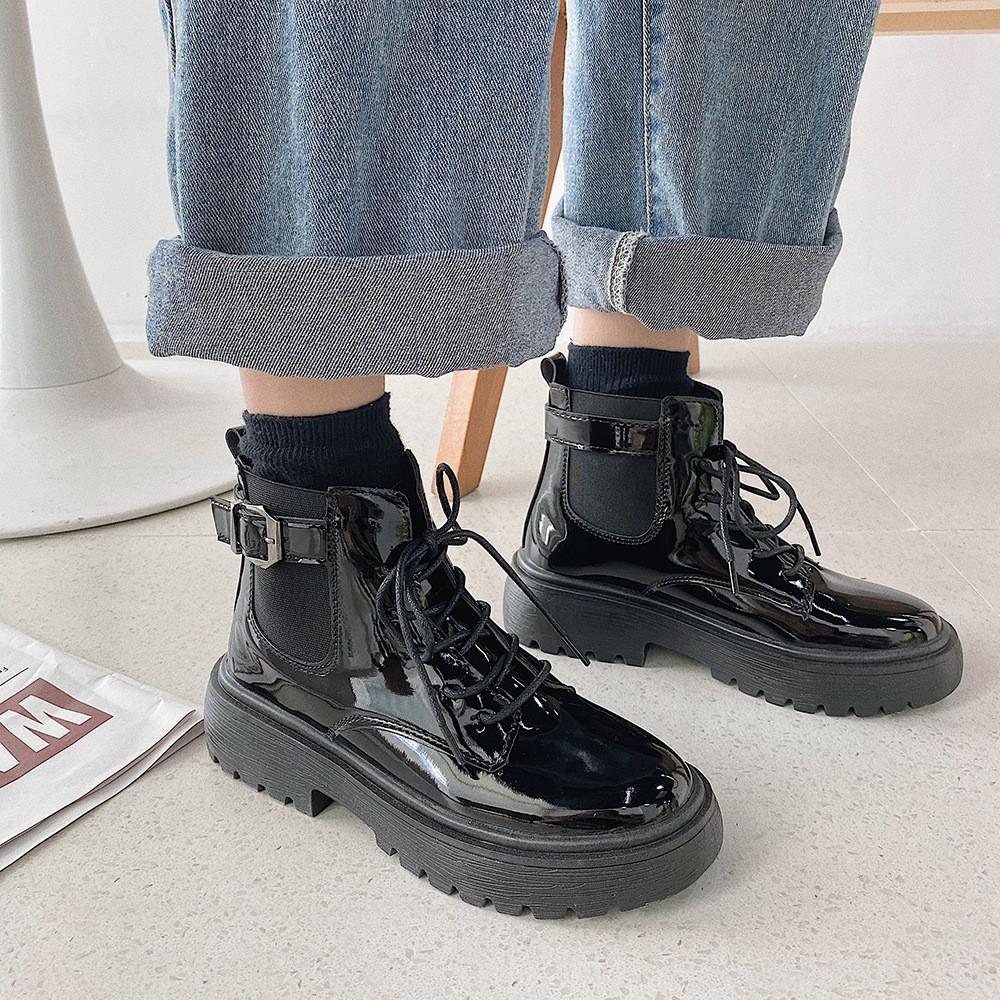 Giày Boot Cổ Cao Thời Trang Cao Cấp Sành Điệu