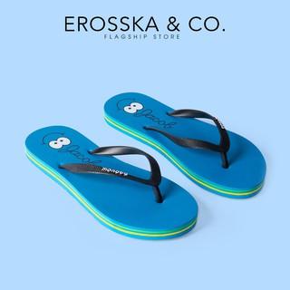 Dép kẹp xỏ ngón in hình hoạ tiết dễ thương Erosska - DK006