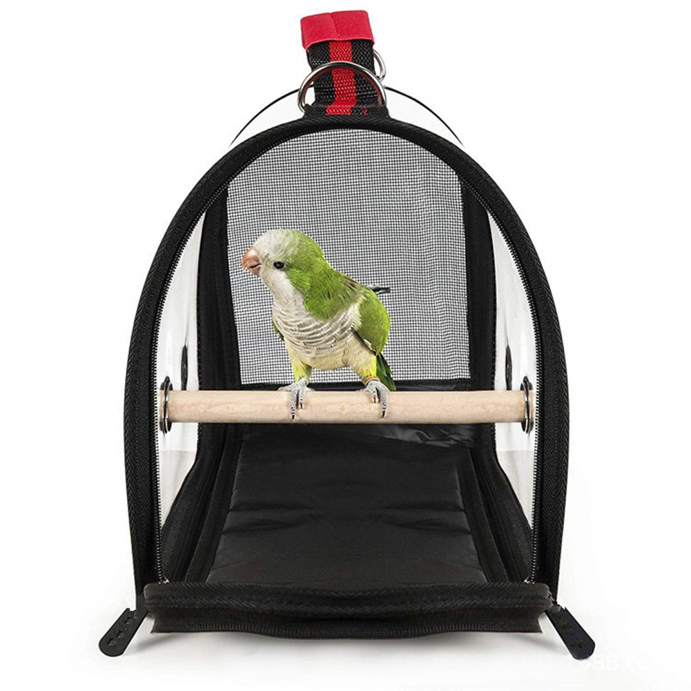 Bird Travel Cage PVC Transparent Breathable Parrot Handbag