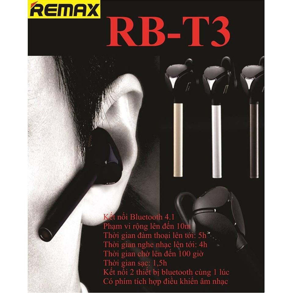 Tai Bluetooth remax t3 chính hãng