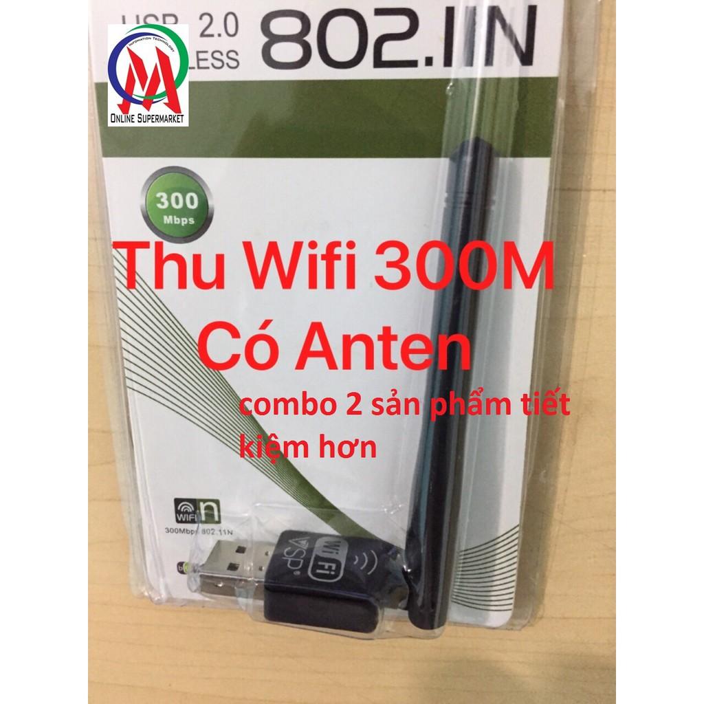 Combo USB Wifi VSP 300M có Anten
