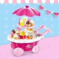 Xe đẩy bán kem kẹo có đèn và nhạc