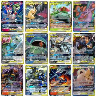 100 PCS Pokemon Card Lot High Class Tag Team Cards GX All Holographic Brand New Ready Stock
