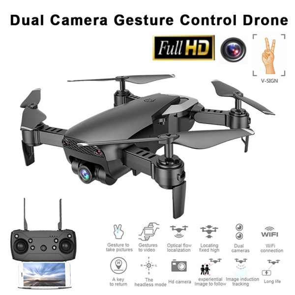 M69G FPV RC Drone 4K with 1080P Wide-angle WiFi HD Camera Foldable RC Mini Quadcopter Helicopter