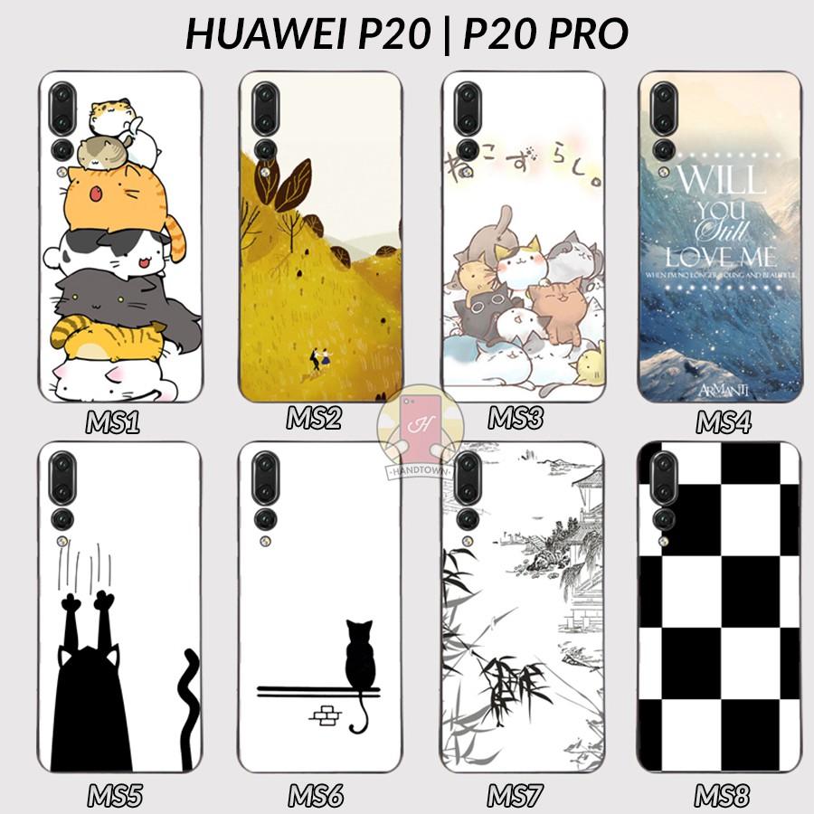 Ốp lưng Huawei P20 | P20 Pro dẻo đen in hình (Phần 1)
