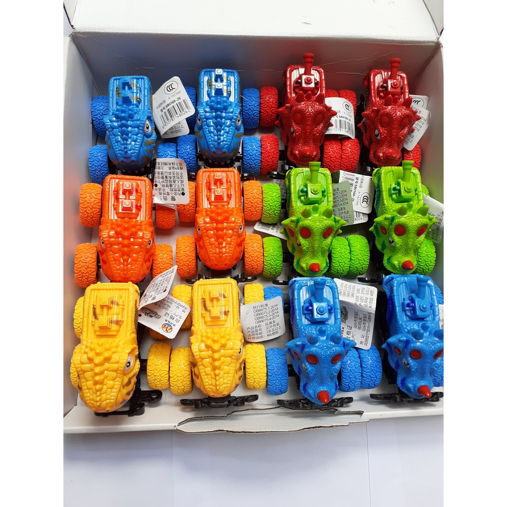 Hộp 12 xe mini khủng long dễ thương cho bé, đồ chơi vận động, đồ chơi trẻ em, đồ chơi xe ô tô, mô hình xe mô tô