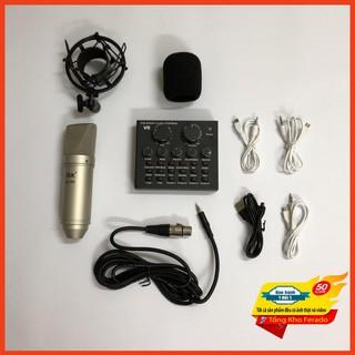 [ Siêu rẻ ] Combo micro ISK AT100 và sound card V8