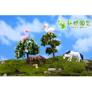 Combo đôi hồng hạc hai màu trắng và hồng chuyên trang trí tiểu cảnh, bonsai - hình 2