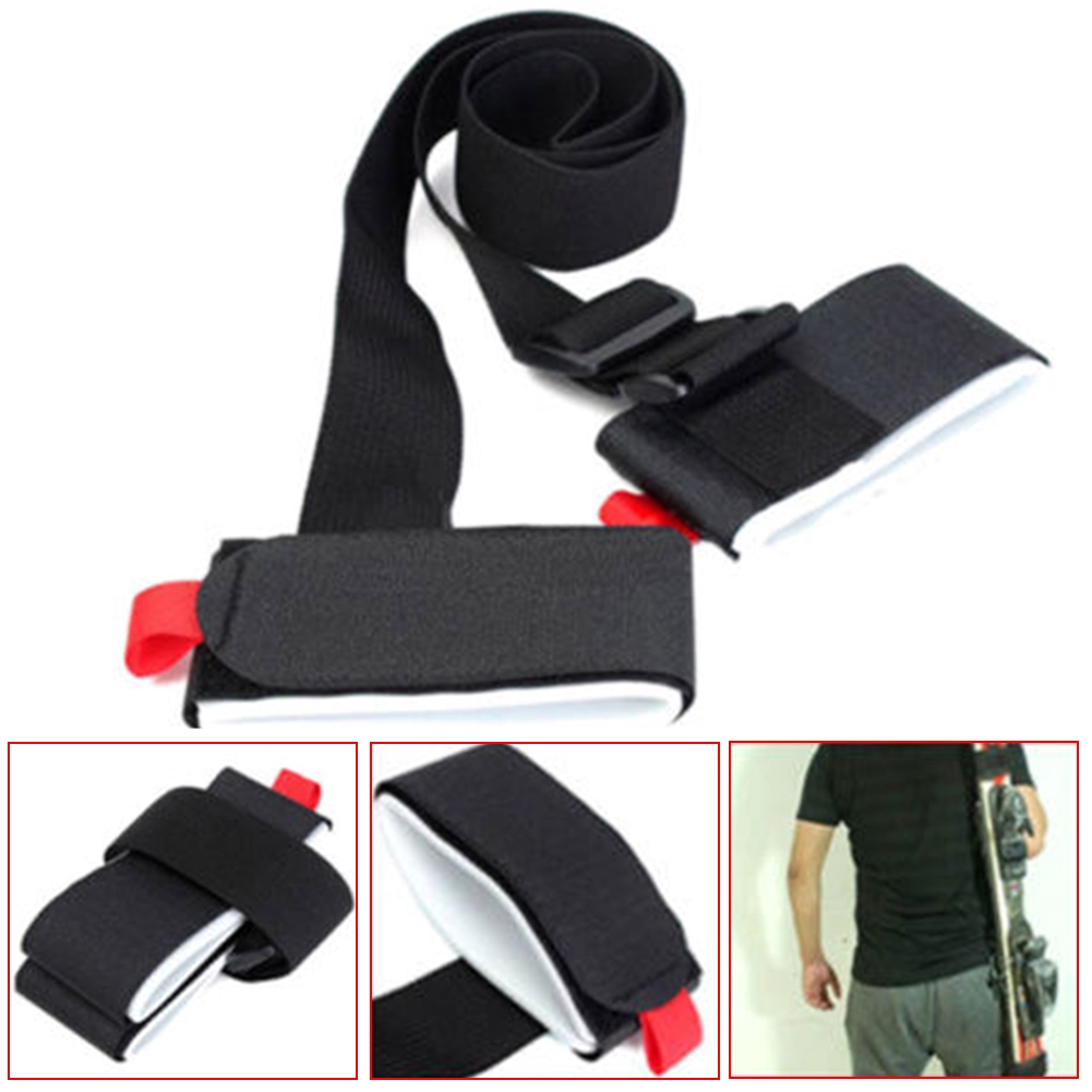 Hand Nylon Loop Adjustable Skiing Handle Protecting Shoulder Fixing Strap