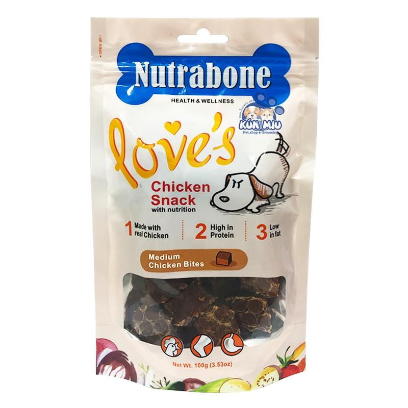 Bánh thưởng cho chó Nutrabone 100gr vị thịt gà - Medium Chicken Bites