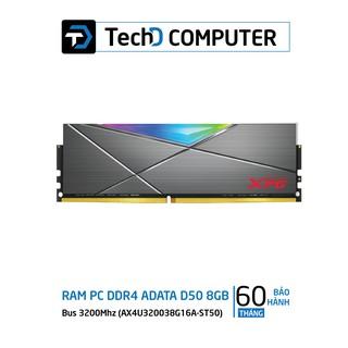 Ram 8GB ADATA XPG Spectrix D50 DDR4 (1×8) Bus 3200Mhz RGB (AX4U320038G16A-ST50)