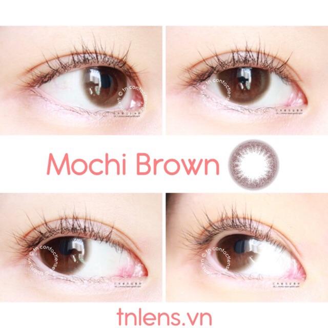 Kính áp tròng Mochi Brown 14.0 - HSD 6 tháng - Độ cận 0->6