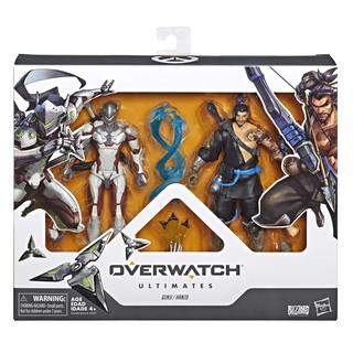 [CÓ HÀNG] Mô hình 2 nhân vật Hasbro Genji và Hanzo Dual Pack trong Overwatch Ultimates chính hãng (như hình).