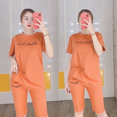 [Có size đến 100KG]Đồ bộ mặc nhà nữ quần lửng tay ngắn - Chất liệu thun co giãn 4 chiều thoáng mát - Anquachi