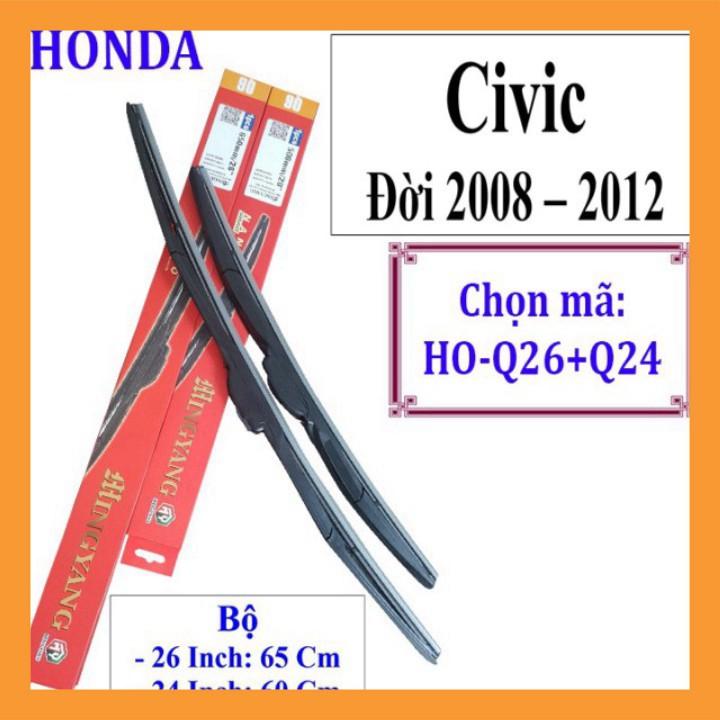{Hàng chính hãng} Cần gạt mưa Honda CIVIC ĐỜI 2008 - ĐẾN 2012 - VÀ CÁC DÒNG XE KHÁC HÃNG HONDA: Accord-Civic-Hrv-City-Ja