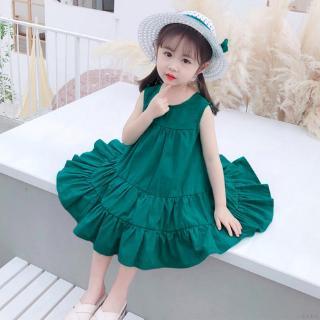 Đầm Công Chúa Không Tay Có Mũ Đáng Yêu Cho Bé Gái