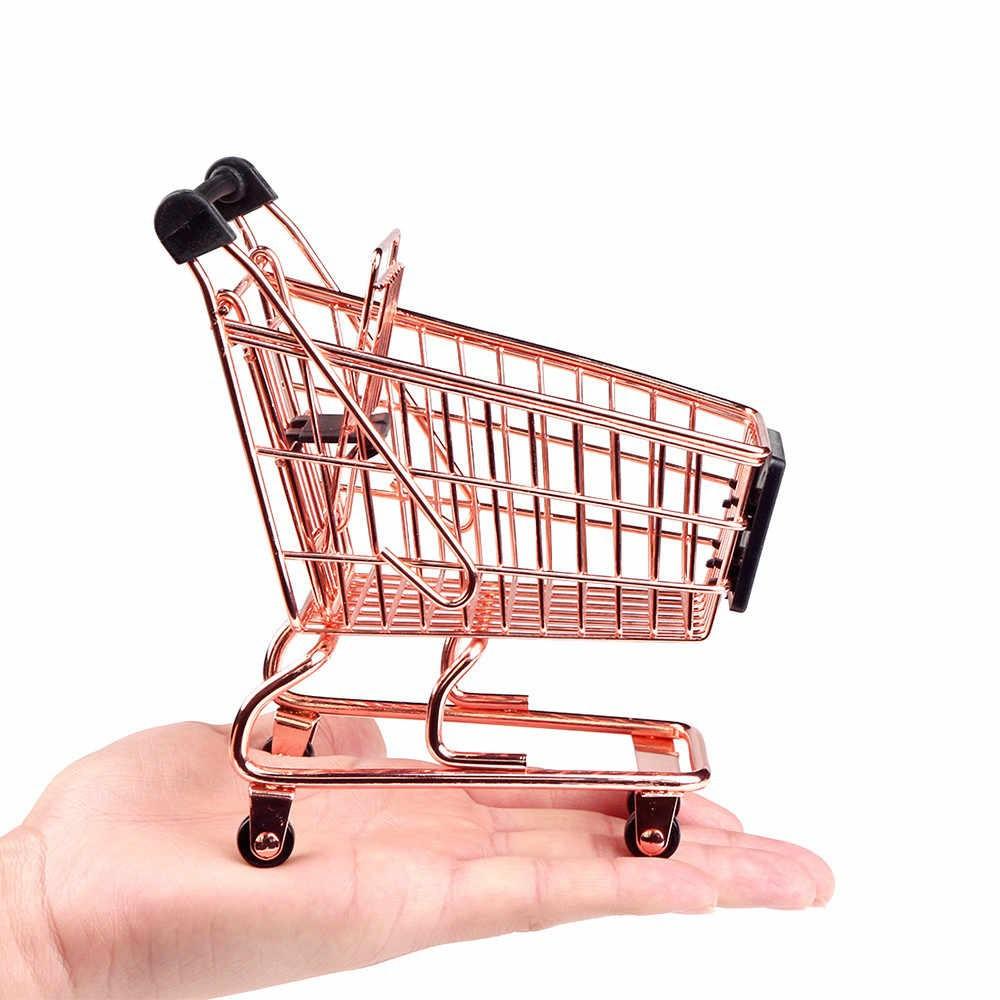 Xe Đẩy Siêu Thị Mini – Giỏ Đựng Đồ Mua Sắm Mini Bằng Thép Không Gỉ