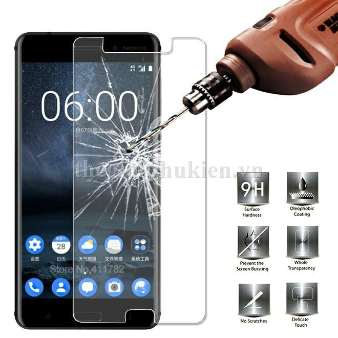 Nokia 6 | Bộ Kính cường lực và ốp silicon nokia6