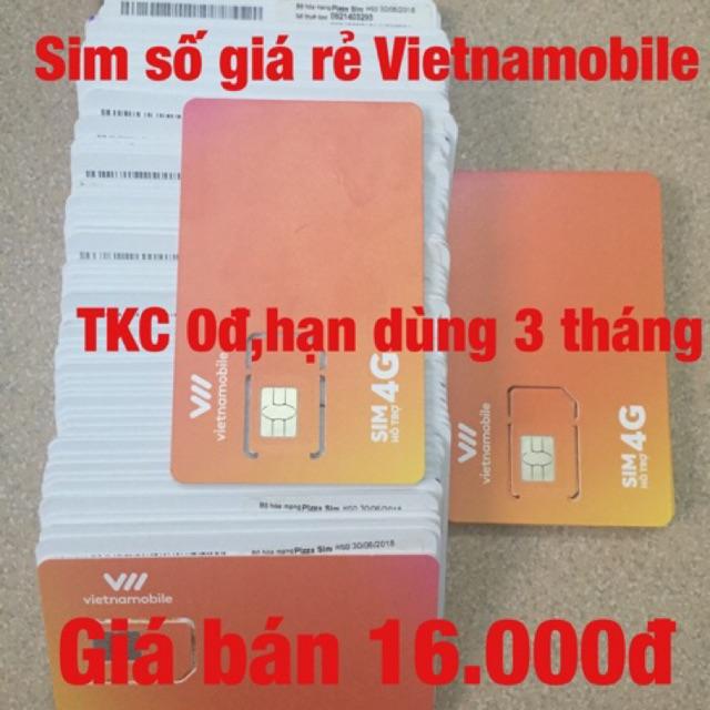 Sim số giá rẻ Vietnamobile 16k
