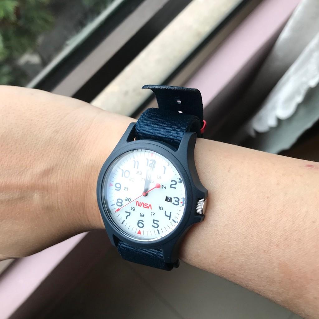 Đồng hồ Unisex Timex Acadia NaSa - TW2T92600 Xanh
