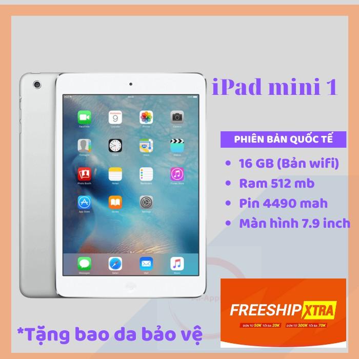 Máy tính bảng iPad Mini 1 wifi chính hãng Apple qua sử dụng BH 6 THÁNG 1 ĐỔI 1 TẠI NHÀ TẶNG CL BAO DẠ