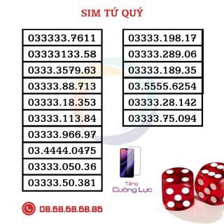 Sim Số Đẹp VIETTEL – Sim Gói V120 – Sim Tứ Quý, Sảnh Tiến – Hàng Chính Hãng ( TẶNG KÈM KÍNH CƯỜNG LỰC IPHONE)
