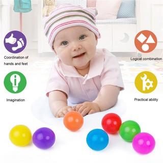 【Kiss】Bộ 50 quả bóng nhựa đồ chơi nhiều màu sắc cho bé