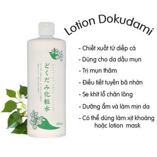 Nước hoa hồng CHINH HÃNG Toner diếp cá Tía tô Dokudami Natural Skin Lotion Nhật 500ml thumbnail